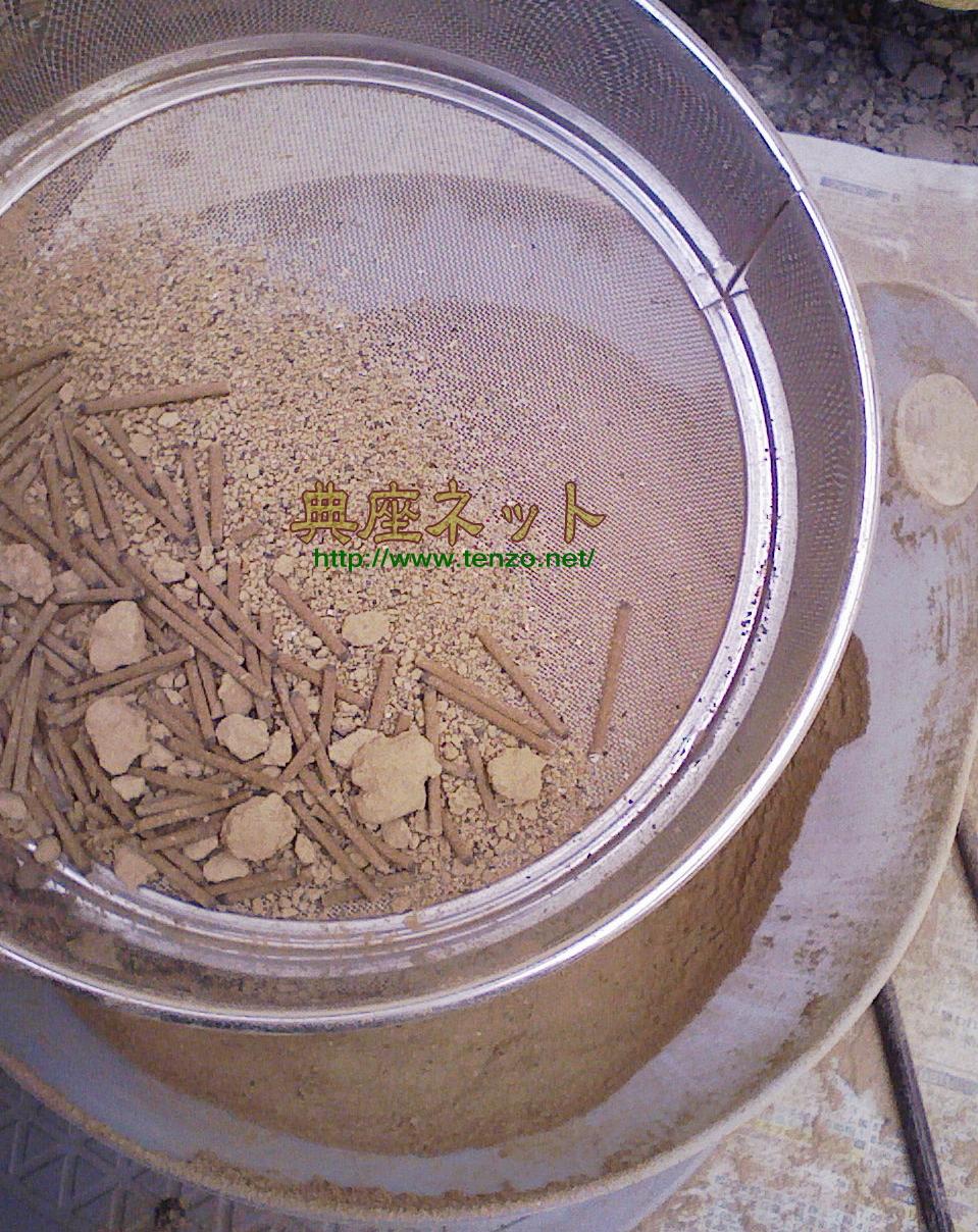 お仏壇の香炉の灰掃除