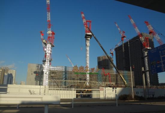 東京オリンピックに向けた建設ラッシュ