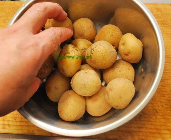 小芋の粉吹き芋_梅ダレ調理手順