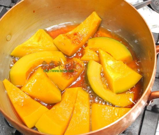 カボチャの煮物調理手順