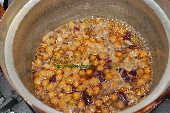 煮豆の甘茶煮_2500年前お釈迦様時代の料理再現