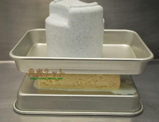 豆腐の水抜き手順