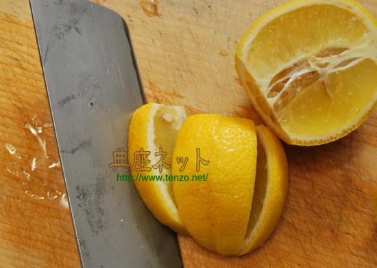 蛇腹胡瓜のレモン漬