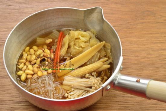 節分大豆のスープ