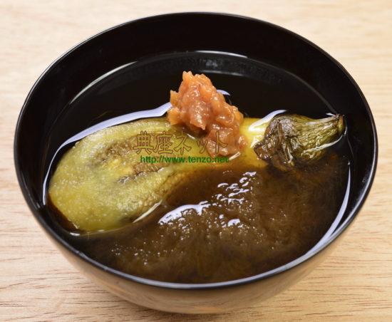 焼き茄子のおぼろすまし汁レシピ