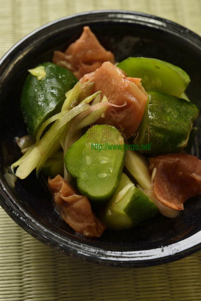 胡瓜の梅漬_精進料理レシピ