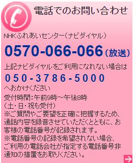 NHK御意見御感想電話番号