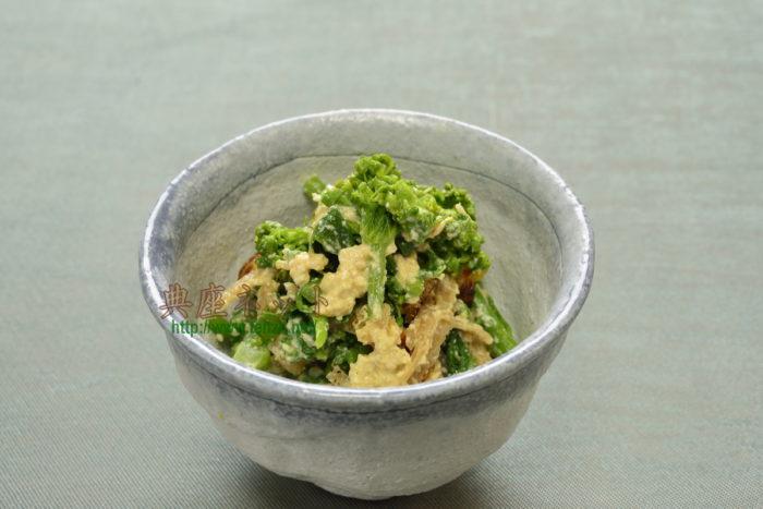 菜の花の辛子あえ_精進料理レシピ