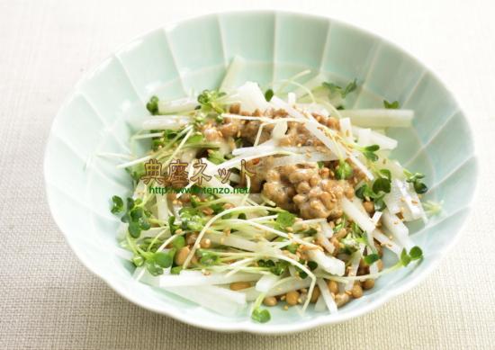 大根と納豆のサラダ